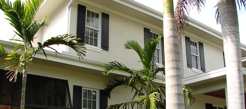 Exterior wood true louver colonial shutters