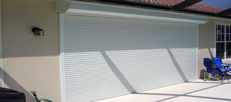 Roll down hurricane shutters